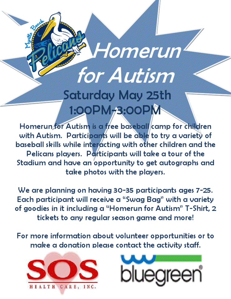 Homerun f or Autism Flyer