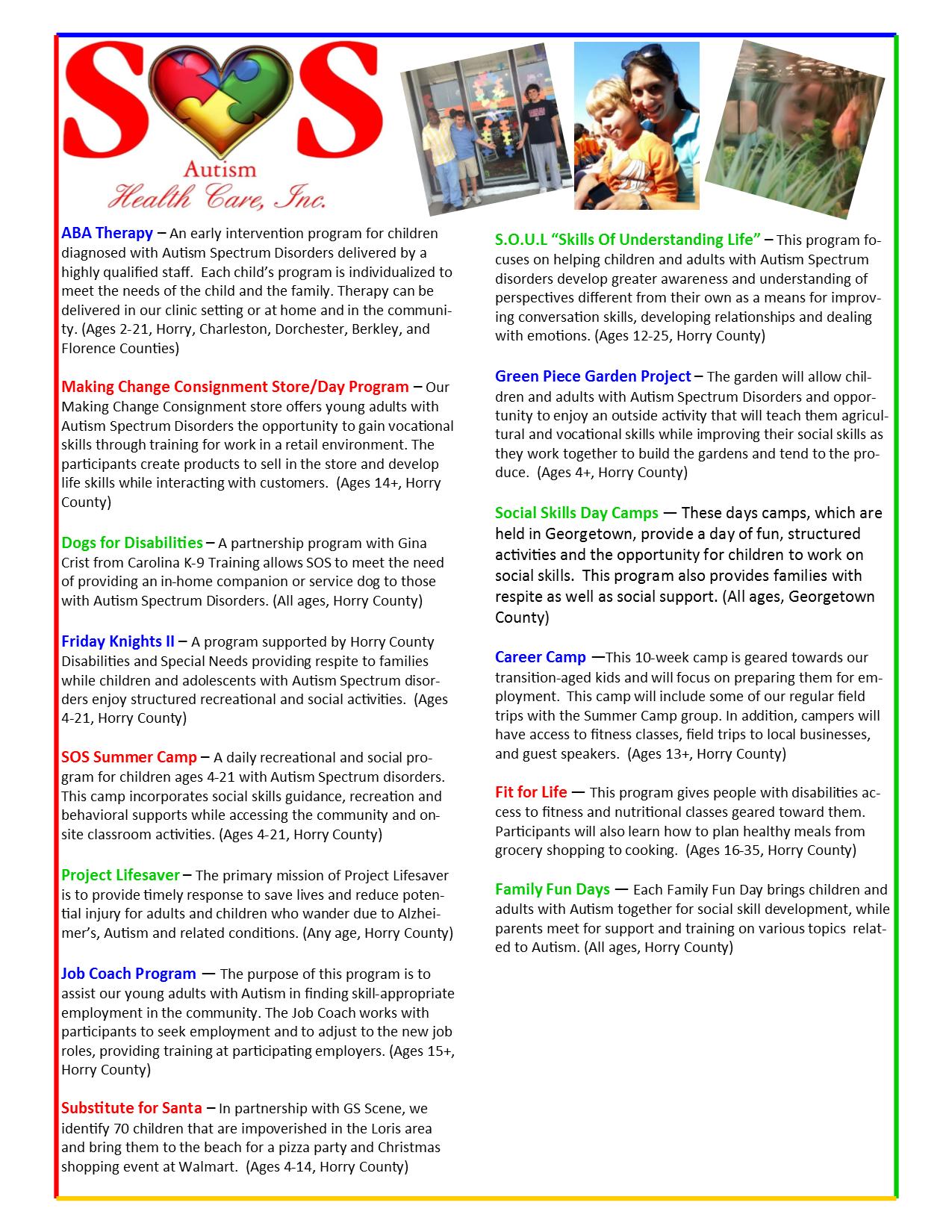 Programs SOS Healthcare