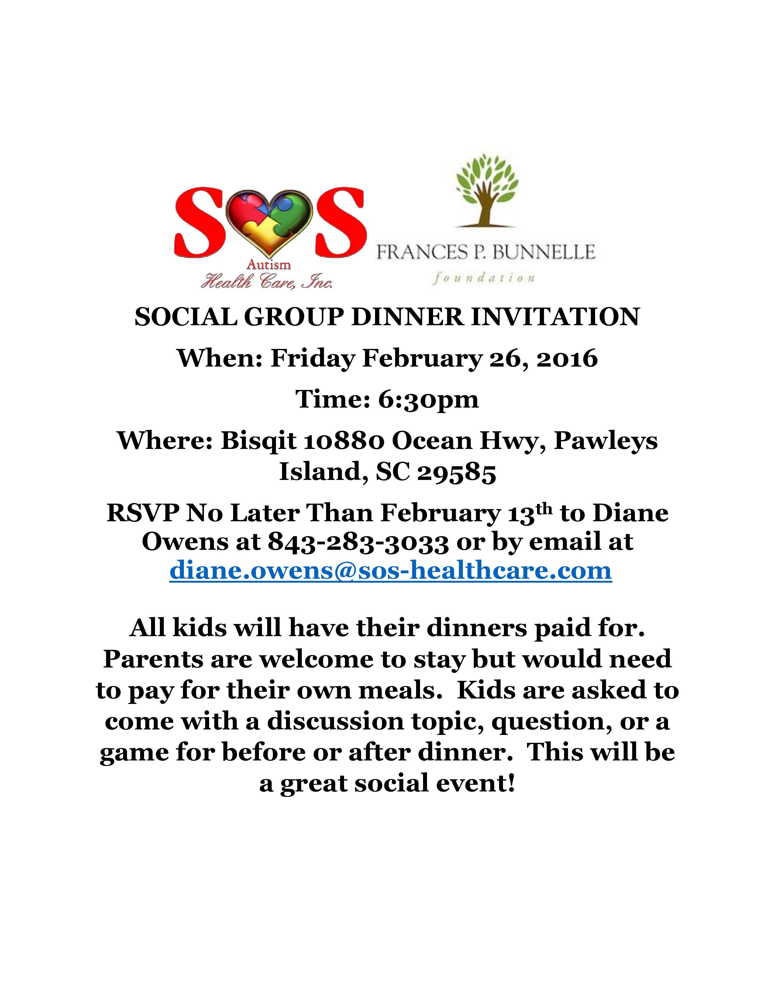 Feb 2016 Bunnelle Social Group Dinner